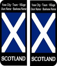 Scotland Scottish Flag Personalised Number Plate Badge Sticker Car Decal x4