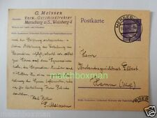 WORLD WAR TWO GERMAN STATIONERY POSTCARD G. MEISSEN POSTMARKED 1942 BBW5041