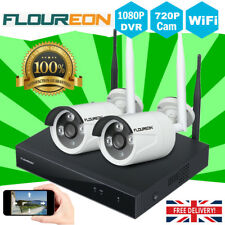 4CH Wireless 1080P CCTV DVR WIFI IP Camera Outdoor Home Security NVR System Kit