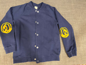 COS Boys Kids 100% Cotton Sweater Cardigan Navy Blue Size 8-10
