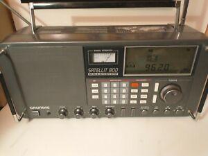 Grundig Satellit 800 Shortwave AM FM Radio Receiver Works but has no power cable