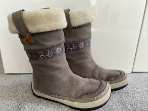 MERRELL PUFFIN CHILL GREY WOMENS BOOTS SIZE 5 38 SUPER WARM NICE CONDITION