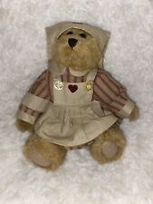 "New ListingBoyds Bear Jointed Stuffed Plush Cute Bailey Nurse 8"" With Hearts"