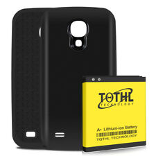 TQTHL 6200mAh Extended Battery Black Cover TPU Case f Samsung Galaxy S4 I9500