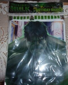 Hallmark Party Express The Incredible Hulk Happy Birthday Banner NEW sealed
