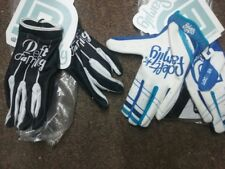 LOT 2 PAIRS DEFT FAMILY GLOVES WHITE BLUE & BLACK WHITE adult ATV  M, L,XL