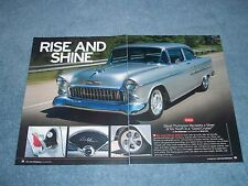 "1955 Chevy Bel Air Sedan RestoMod Article ""Rise and Shine"""