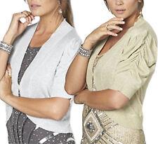 UK PLUS Sizes 24 - 30 Ladies Sparkly Gold Shrugs