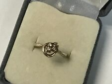Gorgeous 10KT Yellow Gold Love Knot Design Ring W/ Round Diamond Accents