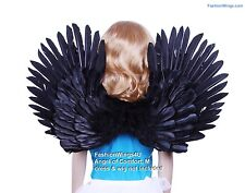 FashionWings (Tm) Children's Black Costume Feather Angel Wings Point up or Down