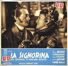 fotobusta originale LA SIGNORINA Nino Besozzi Laura Nucci 1942