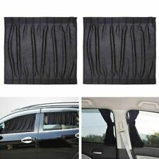 2PCS Universal Car Sun Shade Side Window Curtain Foldable Sunshade UV Protection