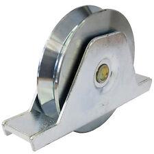 Laufrolle Tor Schiebetor mit Innenstützplatte D 90 mm Keilnut max 200 kg