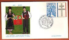 1972 - Enveloppe 1°Jour - Fêtes de la Vigne - Dijon - Invité Bulgarie  - Yt.1696