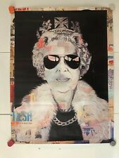 MR BRAINWASH | QUEEN ELIZABETH | SIGNED PRINT POSTER LONDON 2000'S