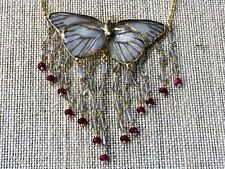 Real Butterfly and Ruby Necklace by Lipplus