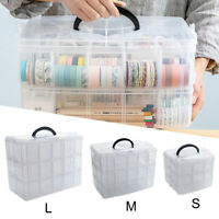 3 Tier Jewellery Bead Craft Tool Storage Organiser Box Container Adjustable