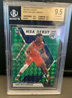 ZION WILLIAMSON 2019 GREEN MOSAIC NBA DEBUT Prizm RC BGS BECKETT 9.5 GEM MINT