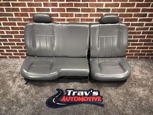 02-08 Dodge Ram Laramie 60/40 OEM Leather Rear Bench Seat, Quad Cab, Slate