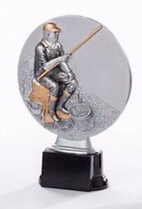 Angler-Pokal (Resin-Figur) mit Wunschgravur (39132)