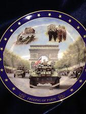 BRADFORD VISIONS OF GLORY FREEING OF PARIS DAVID COOK WORLD WAR II PLATE