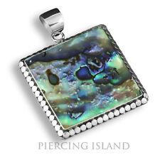 echt 925er Silber Anhänger Perlmutt Abalone Muschel Handarbeit Ps082