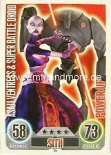 Star Wars Force Asajj Ventress & Super Battle Droid