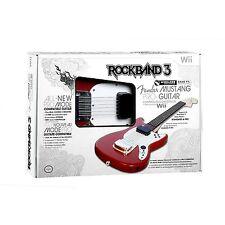 NEW Nintendo Wii Rock Band 3 Wireless Fender Mustang PRO-Guitar RockBand