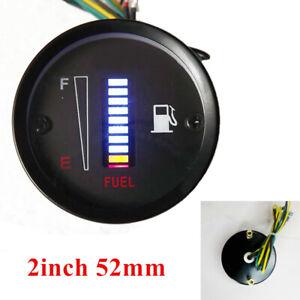 12V 2inch 52mm 10LED Fuel Level Meter Digital Gauge for Car Motorcycle Vehicle