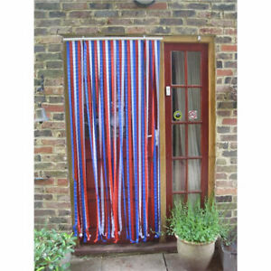 Plastic Door Blind Screen Strip Stop Mosquitos Flies Insects Striped Curtain