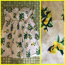 BARKINS Strapless RETRO DRESS Lemon Floral 16