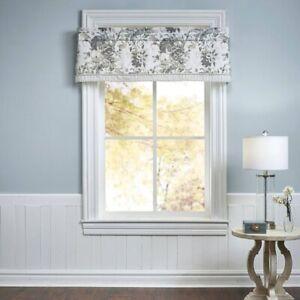 "WAVERlY Kensington Bloom Window Valance | 16""x60"" Gray | 🆕"