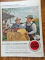 1942 Lucky Strike Cigarette Ad Tobacco Country Loading for Town by Fiene
