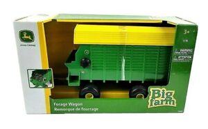 TOMY John Deere Big Farm Forage Wagon Vehicle 1:16 Scale Green And Yellow