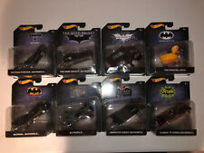 2017 HOT WHEELS BATMAN 1:50 BATMOBILE Animated Series, Bat, Forever Lot Of 8.