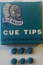 "6 - BLUE KNIGHT 14 MM ""SOFT/MEDIUM"" PROFESSIONAL CUE TIPS"
