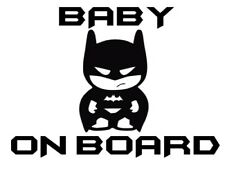 Batman Style Baby on Board - 20cm Sticker Any Colour Decal - BABY016