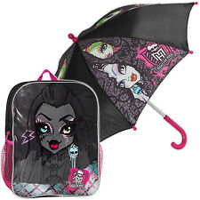 Monster High Combo Backpack Umbrella Girls Kids School Bag Rucksack Gym PE Kit