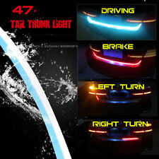 2 Color Flow Type Flowing LED Strip Car Trunk DRL Side Turn Signal Rear Light