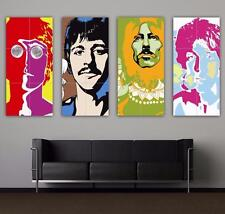 THE BEATLES - ICONIC POP ART - BIG SET - 4 X TOP QUALITY GIANT POSTER ART PRINTS