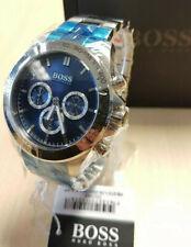 New Hugo Boss Watch Men's Ikon HB1512963 Silver/Blue - 2 Year Warranty! UK Stock