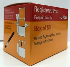 Australia Post Registered Label 1 x BOX of 50 Labels.