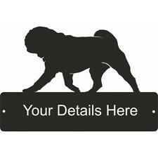Pug Rectangular Gate Plaque