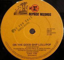 TINY TIM ~ SAMPLE 45 Rare AUSTRALIAN  Good Ship Lollipop REPRISE 7  PROMO