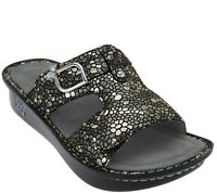 Alegria by PG Lite Peggy Leather Slides Sandals Womens 38 / 8-8.5 Pewter Mosaic