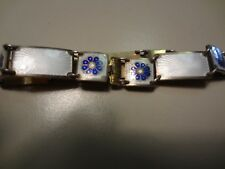 #53-VINTAGE D- A NORWAY STERLING SILVER BRACELET-BEAUTIFUL AND OLD