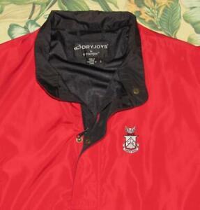 Mens FOOTJOY Red Short Sleeve Golf Jacket Capital City Club Large L
