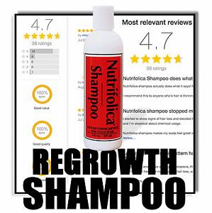 NUTRIFOLICA REGROWTH SHAMPOO Growth receding crown line male pattern hair loss