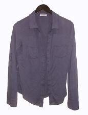NEW Michael Stars Shirt One Size Navy Blue Slub Knit Shirt
