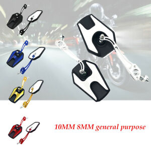1 Pair Motorcycle Rearview Mirror Modified Parts Reversing  Reflector Durable